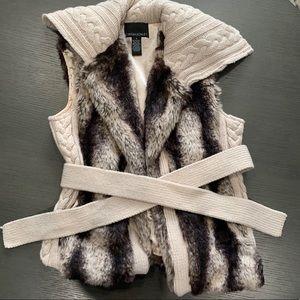 Cynthia Rowley faux fur vest - small
